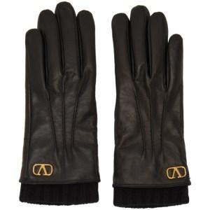 Valentino Black Valentino Garavani VLogo Gloves