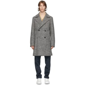 DOPPIAA Black and Off-White Albany Coat