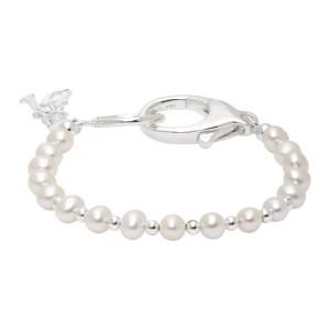 Hatton Labs SSENSE Exclusive Silver Classic Pearl Bracelet