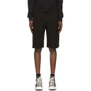 AMI Alexandre Mattiussi Black Bermuda Cargo Shorts