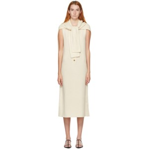 Kim Matin White Cashmere Scarf Tank Dress