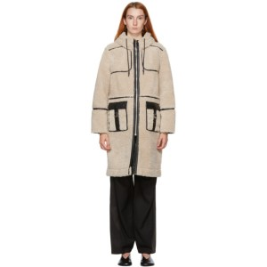 Kim Matin Off-White Sherpa Long Coat