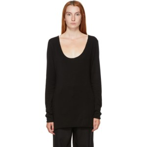 Kim Matin Black Wide Neck Sweater