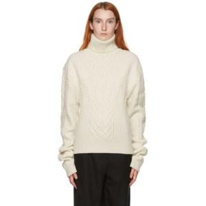 Kim Matin Off-White Knit Volume Sweater