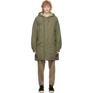 Visvim Green Patterson Overcoat