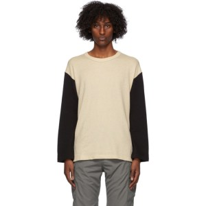 Visvim Off-White and Black Baseball Long Sleeve T-Shirt
