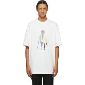 JERIH White Collage T-Shirt
