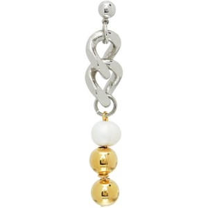 IN GOLD WE TRUST PARIS Silver and Gold Cuban Single Link Earring