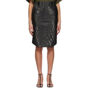 System Black Quilted Skirt
