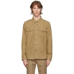 System Beige Pocket Military Shirt