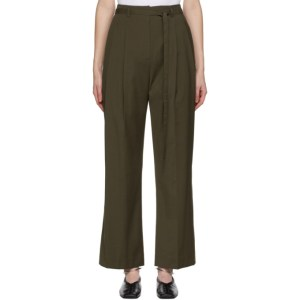 LE17SEPTEMBRE Khaki Belted Tuck Trousers