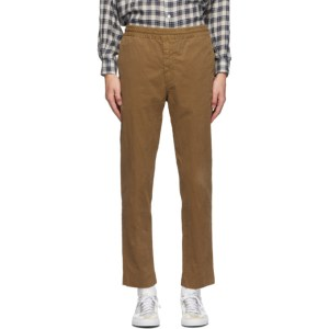 PRESIDENTs Khaki Garment-Dyed Vernon Trousers