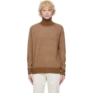 PRESIDENTs Beige Recycled Cashmere Turtleneck