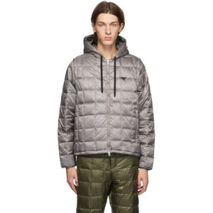 TAION Grey Down Heated Hoodie EXTRA Jacket