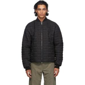 4SDESIGNS Black Nylon Storm Jacket