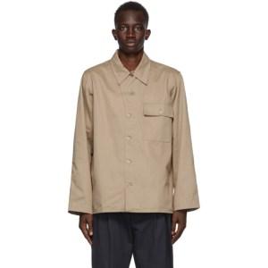 4SDESIGNS Khaki Military Shirt Jacket