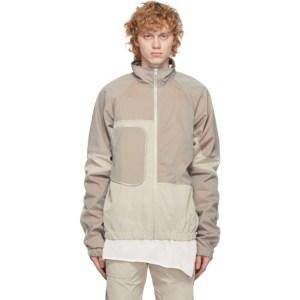 Arnar Mar Jonsson Beige and Grey Track Jacket