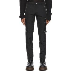 Arnar Mar Jonsson Black Zip Pocket Cargo Pants