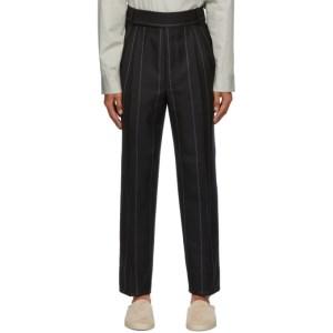 Fear of God Ermenegildo Zegna Black Double Pleat Trousers