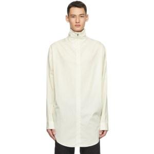 Fear of God Ermenegildo Zegna Off-White Cotton Oversized Turtleneck
