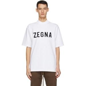 Fear of God Ermenegildo Zegna White Oversized Logo T-Shirt
