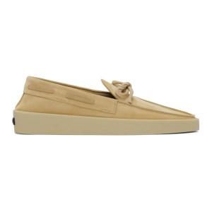 Fear of God Ermenegildo Zegna Beige Suede Boat Shoe Loafers