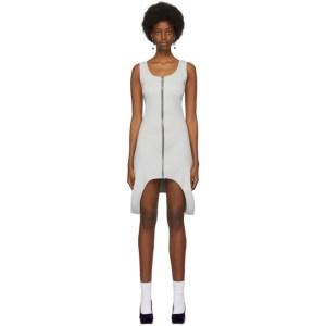 Lourdes Grey Rib Zip Dress