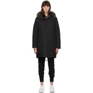 Yves Salomon - Army Black Down Bachette Coat