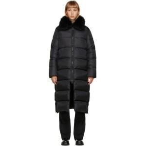 Yves Salomon - Army Black Down Long Jacket