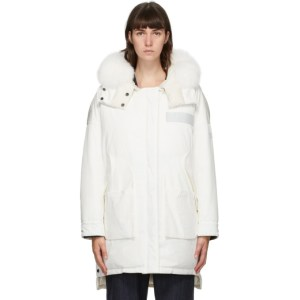 Yves Salomon - Army Reversible White Down Doudoune Coat