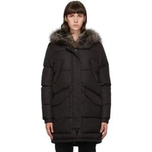 Yves Salomon - Army Black Down Doudoune Coat