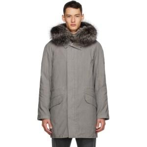 Yves Salomon - Army Grey Fur Parka