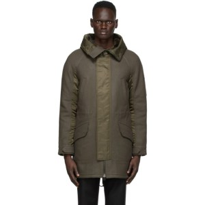 Yves Salomon - Army Grey and Green Wool Hunter Parka