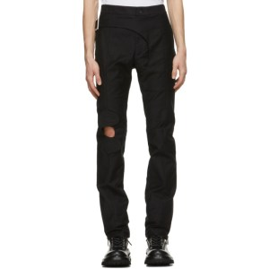 ADYAR SSENSE Exclusive Black Multi-Brace Trousers