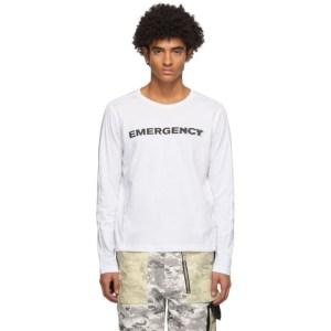 ADYAR SSENSE Exclusive White Logo Long Sleeve T-Shirt