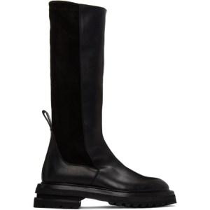 ADYAR SSENSE Exclusive Black Suede Lancer High Boots