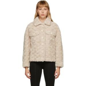 Yves Salomon - Meteo Beige Wool Shirt Jacket