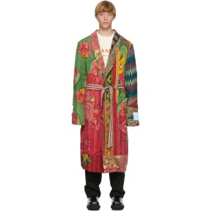 Mr. Saturday SSENSE Exclusive Multicolor Patchwork Robe Coat