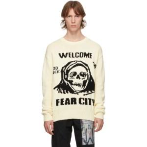 Mr. Saturday White Grim Fear City Sweater