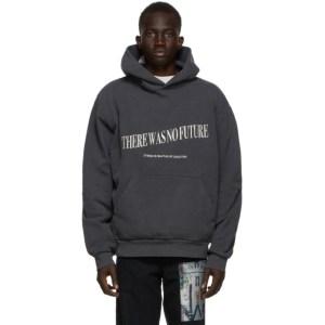 Mr. Saturday Black Embroidered No Future Hoodie