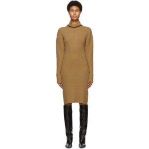 DRAE SSENSE Exclusive Tan High Neck Dress