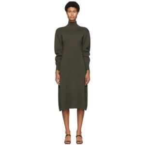 DRAE SSENSE Exclusive Khaki Turtleneck Dress