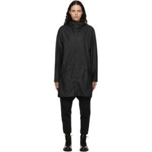 RAINS Black Taffeta Rain Coat
