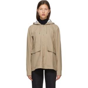 RAINS Beige Taffeta Rain Jacket