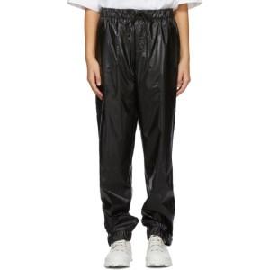 RAINS Black Satin Lounge Pants