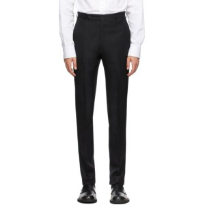 Husbands Black Tapered High Waist Trousers