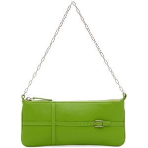 Abra SSENSE Exclusive Green Belt Baguette Bag