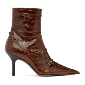 Abra SSENSE Exclusive Brown Belt Heeled Ankle Boots
