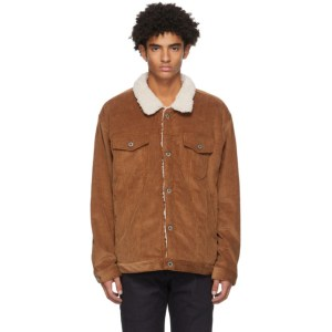 Naked and Famous Denim SSENSE Exclusive Brown Sherpa Oversized Jacket