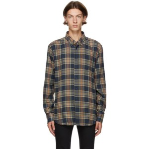Naked and Famous Denim Navy Silk Flannel Easy Shirt